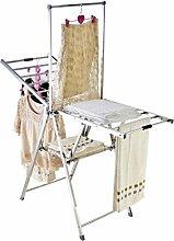 LyMei Edelstahl-Wäscheständer Faltbare Kleidung