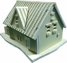 LYNCH 1 Satz 3D Silikon-Haus Gebäude Kuchen dekorieren Fondantform Backen-Werkzeuge,Rosa