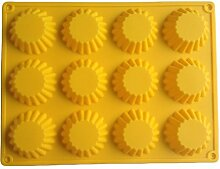 LYNCH 3D Egg Tart formte Silikon-Form-Muffin-Kuchen-Form-Küche-Werkzeuge