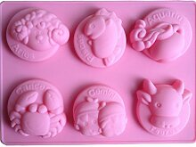 LYNCH 3D Tiere geformt Fondant-Schokoladen-Form-Silikon-Polymer Clay Werkzeuge