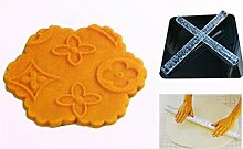 LYNCH Blumen-Entwurf Prägen Rolling Pin Sugar