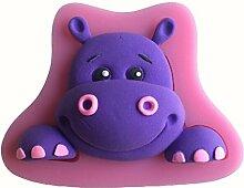 LYNCH Hippo formte Silikon-Form-Fondant-Kuchen, Süßigkeiten Gebäck Werkzeuge,Rosa