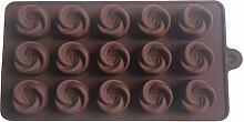 LYNCH Mold 3D Silikon-Rosen-Form Schokoladen-Form-Fondant-Gebäck-Werkzeuge