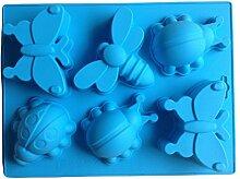 LYNCH Schmetterling Käfer geformt 3D-Silikon-Form-Muffin-Fondant-Backen-Werkzeuge