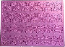 LYNCH Silikon-Matte Fondant-Kuchen-Werkzeuge Silikon-Spitze-Form-Blumen-Muster kuchen dekoration silikon - 3d - effekt formen fondant - klassiker muster,Rosa