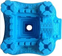 LYNCH Werkzeuge Schloss geformte 3D-Silikon-Kuchen-Form-Schokoladen-Fondan