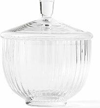 Lyngby Porcelæn - Bonbonniere, Glas, transparent,