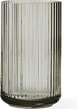 Lyngby Porcelæn - Glasvase, smoke, H 15 cm