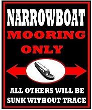 LynnYo22 Blechschild für Schmalboot, Bootsfahrer,