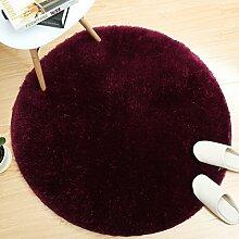LYP-Teppiche modernen europäischen Stil Wohnzimmer Kreativer Teppich Netter Multifunktionsprofile Teppich Wohnzimmer Schlafzimmer Study Computer Stuhl Non - Slip Matten, Lila Gewaschener Couchtisch Nachttischteppich ( größe : 200*200cm )