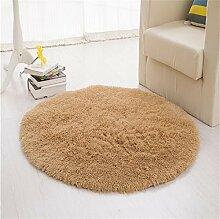LYP-Teppiche modernen europäischen Stil Wohnzimmer Round Solid Color Teppich (bieten mehrfache Farbe und Größe) Gewaschener Couchtisch Nachttischteppich ( Farbe : #8 , größe : Diameter-120CM )