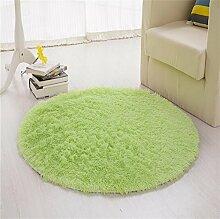 LYP-Teppiche modernen europäischen Stil Wohnzimmer Round Solid Color Teppich (bieten mehrfache Farbe und Größe) Gewaschener Couchtisch Nachttischteppich ( Farbe : #6 , größe : Diameter-80CM )