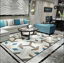LYP-Teppiche modernen europäischen Stil Wohnzimmer Teppich Wohnzimmer Sofa Couchtisch Matten Rechteck American Style Home Teppich (80 * 120cm) Gewaschener Couchtisch Nachttischteppich ( Farbe : C )