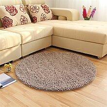 LYP-Teppiche modernen europäischen Stil Wohnzimmer Teppich Art und Weise runder Wolldecke Wohnzimmer Decke Sofa Kaffeetisch Teppich Nachttuch Kinderzimmer Teppich, grau Gewaschener Couchtisch Nachttischteppich ( größe : 120*120cm )