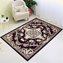 LYP-Teppiche modernen europäischen Stil Wohnzimmer Teppich Couchtisch Wohnzimmer Sofa Schlafzimmer Bett Seitenmatten Maschinenwaschbar Gewaschener Couchtisch Nachttischteppich ( Farbe : #5 , größe : 50*80cm )