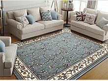 LYP-Teppiche modernen europäischen Stil Wohnzimmer Teppich Wohnzimmer Couchtisch Matten Schlafzimmer Bett Seite Modern Simple Chinese Style Teppiche Gewaschener Couchtisch Nachttischteppich ( größe : 80*120cm )