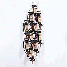 LYPGA Einfache Weinregal-Wand-Wand