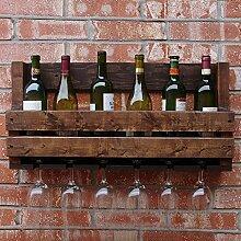 LYPGA Retro Holz Weinregal Wand Weinregal Bar
