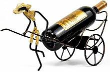 LYPGA Schmiedeeisen Weinregal Rickshaw Vintage