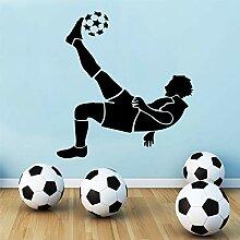 LYPWR88 Fußball Wandaufkleber Kinderzimmer Tapete