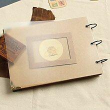 LYPYY A4 Ringbuch Fotoalbum Kraft Sammelalbum