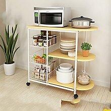 LYQQQQ Küchenablage Küchenregal-Küchenregal mit