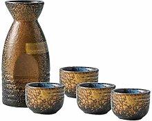 LYQZ 5-teiliges Japanisches Sake-Set