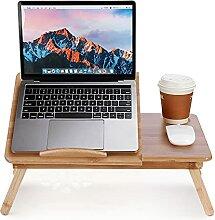 lyrlody Betttisch für Laptop, faltbar, Tisch für