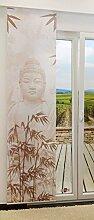 LYSEL Flächengardine Buddha lichtdurchlässig mit