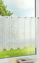 LYSEL Scheibengardine Blütendesign (Bx H) 128cm *