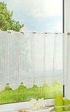 LYSEL Scheibengardine Blütendesign (BX H) 96cm *