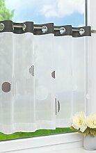 LYSEL Scheibengardine Punkte-Silver (BX H) 140cm *