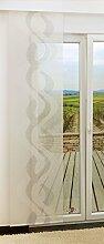 LYSEL Schiebegardine Braid Transparent mit Linien