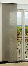 LYSEL Schiebegardine Target Transparent mit Kreisen in Den Maßen 245 cm x 60 cm Beige/graubeige