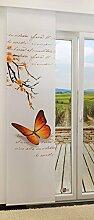 LYSEL Schiebevorhang Schmetterling