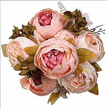 Lystaii Künstliche Blumen Pfingstrosenstrauß