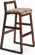 LYTSM® Barstuhl Massivholz High Hocker Retro Barhocker Barhocker Bar Stuhl Creative Fashion Barhocker High Hocker stabil und langlebig (Farbe : #3, größe : High 90cm)