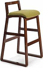 LYTSM® Barstuhl Massivholz High Hocker Retro Barhocker Barhocker Bar Stuhl Creative Fashion Barhocker High Hocker stabil und langlebig (Farbe : #4, größe : High 90cm)
