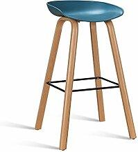 LYTSM® Einfache Rezeption Bar Stuhl Bar Hochstuhl Kreative Barhocker Haushalt Stilvolle Bar Stühle Loft stabil und langlebig (Farbe : Blau, größe : Tall)