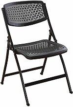 LYTSM® Klappstuhl Hocker Sessel Büro Computer Stuhl Portable Seat Training Stuhl Simple Meeting Rezeption Stühle stabil und langlebig (Farbe : Schwarz)