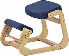 LYTSM® Korrektur-Haltung Stuhl Vollholz Erwachsene Computer Stuhl lernen Studentenstuhl Lift Engineering Anti-Buckel Kniestuhl Schreibstuhl stabil und langlebig ( Farbe : #2 )