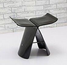 LYTSM® Kreative kleine Bank Hocker niedrigen Stuhl Wohnzimmer Stuhl Butterfly Hocker Holz Hocker Ändern seiner Schuhe Hocker Schuh Hocker Mode einfach stabil und langlebig ( Farbe : #2 )