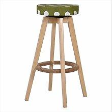 LYTSM® Massivholz bar stühle mode Drehen bar stuhl Einfache High hocker bank Haushalt Barhocker stuhl 37 × 37 × 73,5 cm stabil und langlebig (Farbe : #7)