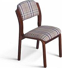 LYTSM® Massivholz esstischstuhl Tuch Cafe stühle