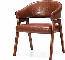 LYTSM® Massivholz Mit Armlehnen Sessel Stoff Esszimmerstuhl Nordeuropa Studie Lounge Stuhl Schreibtisch und Stuhl Modern minimalistischer Stuhl 59 × 58 × 77cm stabil und langlebig ( Farbe : #12 )
