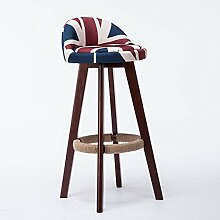 LYTSM® Mode massivholz bar stuhl Kreative Hochstuhl Bar stuhl Rezeption Retro barhocker Hohe hocker stabil und langlebig (Farbe : #8)