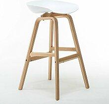 LYTSM® Nordeuropa massivholz Barstuhl Modernen minimalistischen bar stuhl High-stool bar Haushalt High hocker stabil und langlebig (Farbe : #5)