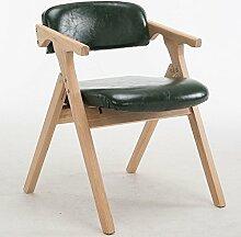 LYTSM® Nordic massivholz esszimmerstuhl moderne Einfache mode Tuch klappstuhl Freizeit erwachsene sessel computer stuhl Haushalt stabil und langlebig (Farbe : #4)