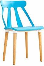 LYTSM® Studie schreibtisch stuhl Haushalt Kreative Modernen minimalistischen Büro computer hocker sessel erwachsenen Esszimmerstuhl stabil und langlebig (Farbe : Blau)