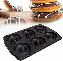 LYXMY Donut-Backblech, 6 Cups, Bagel-Form,